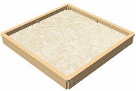 81424-00 Kvadratisk sandkasse – stor model