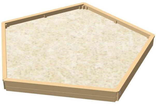81455-00 5-kantet sandkasse - stor model