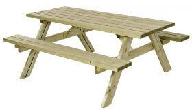 Bord og bænk 1,8 m